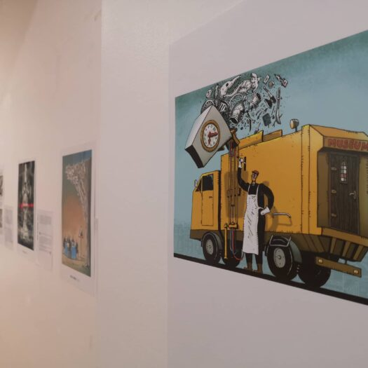 Exhibition opening in Paris